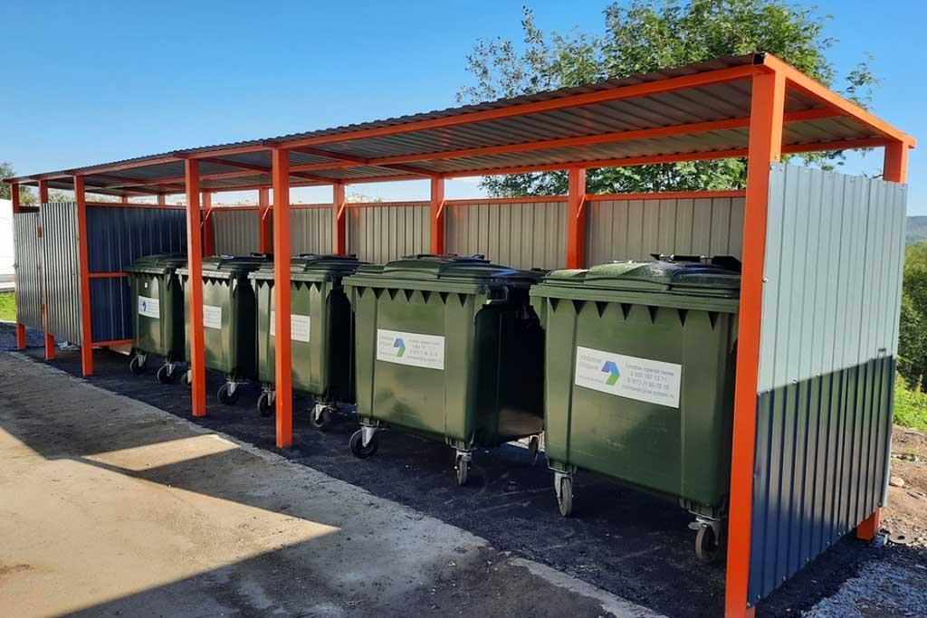 Контейнерная площадка для мусора 4