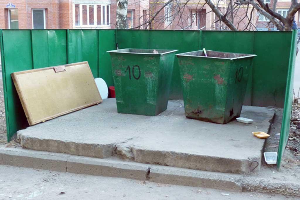 Открытые мусорные контейнеры