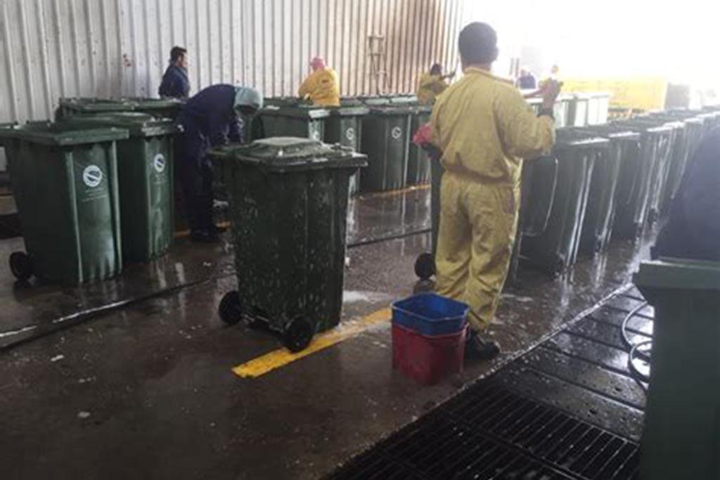 Проведение дезинфекции контейнеров, дезинсекции и дератизации контейнерной площадки