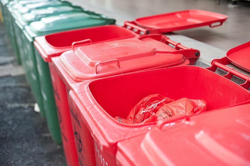 Временное хранение мусора после обеззараживания