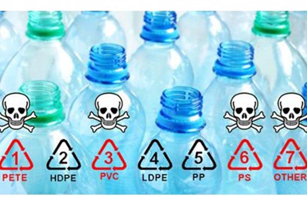 7 видов пластика и соответствующих им кодов (маркировка)