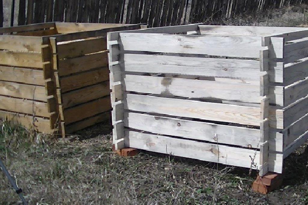 Деревянный ящик для ТКО