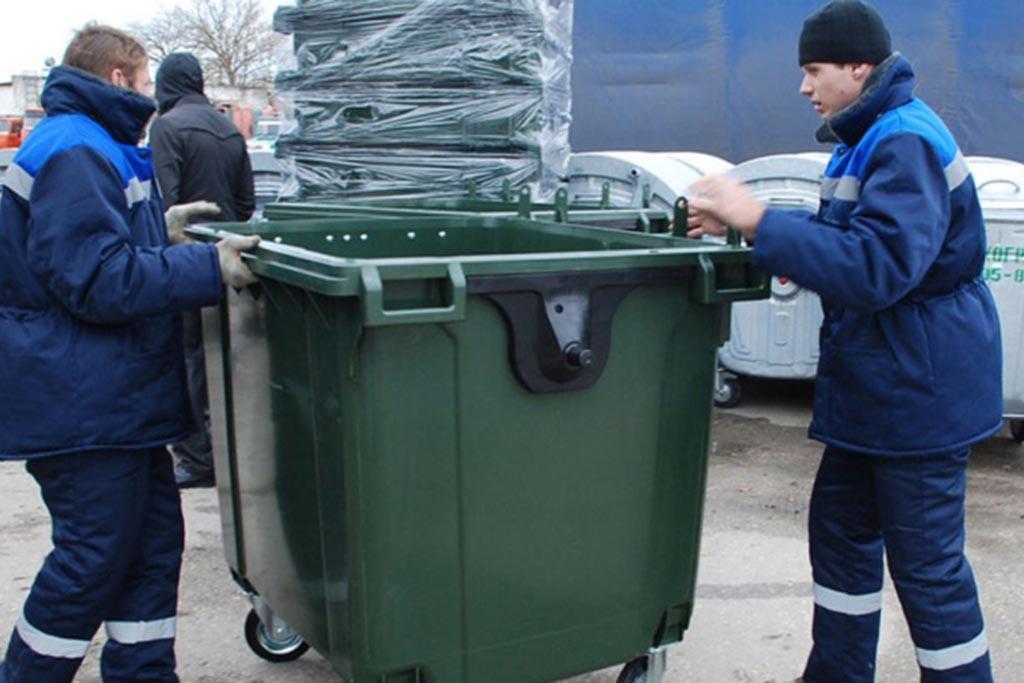 Контейнер для мусора с крышкой на колесах 1100 литров