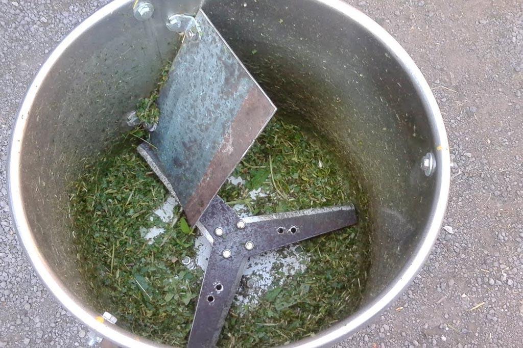 Самодельная сенорезка из стиральной машины