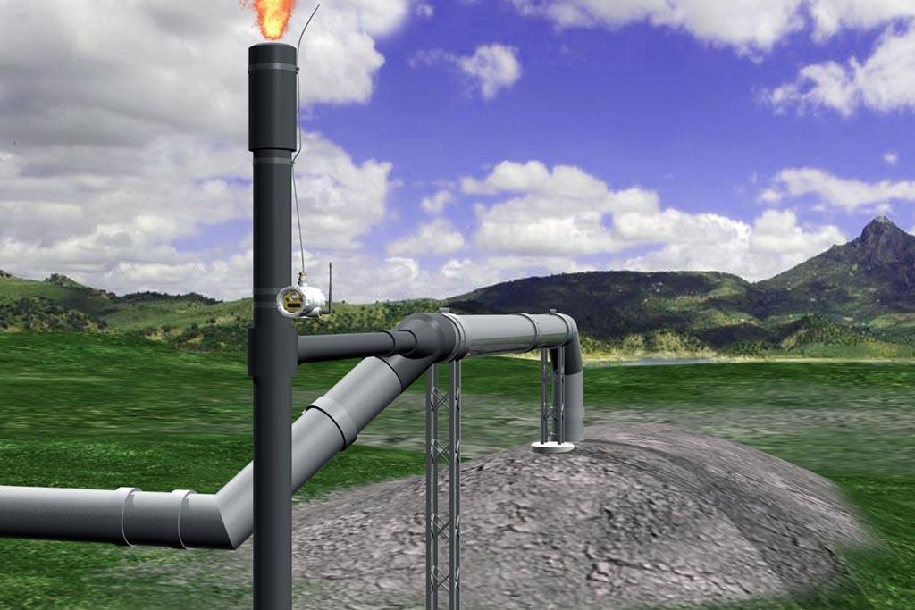 Сбор сингаза (свалочный газ), его переработка в скрубберах