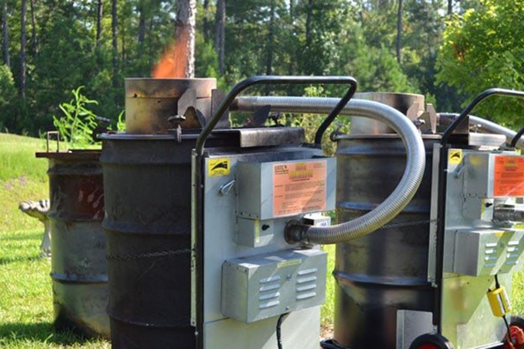 Сжигание мусора в современной фирменной печи