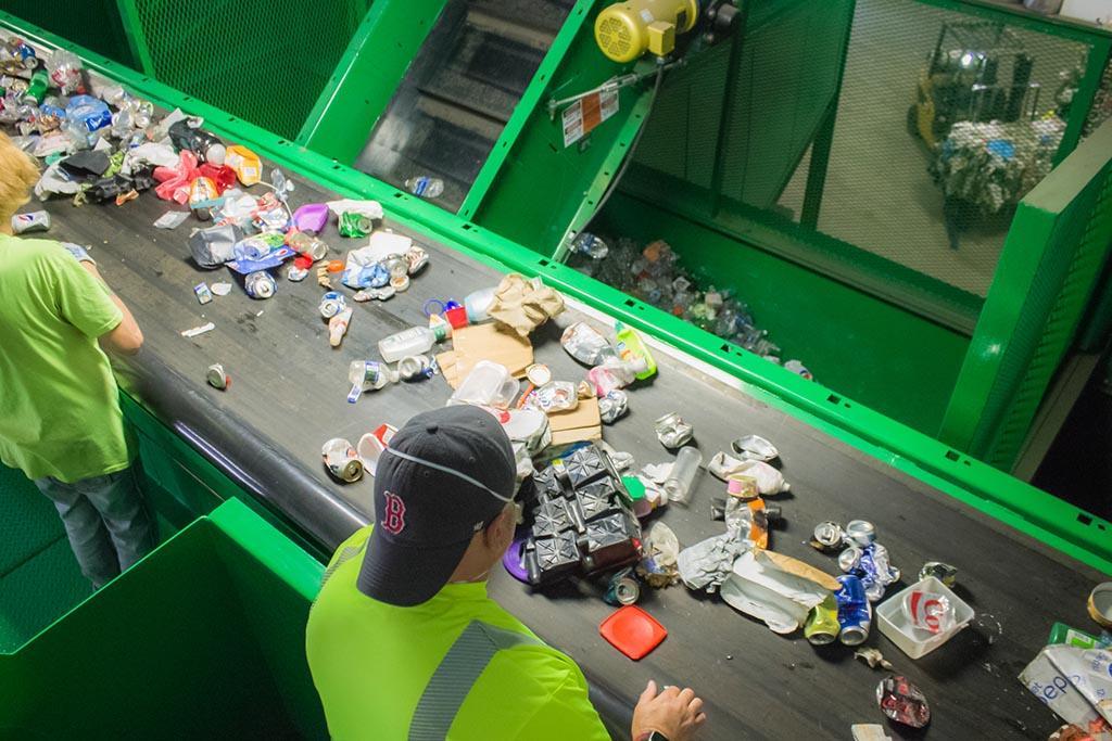 Основные этапы работы завода и переработки мусора