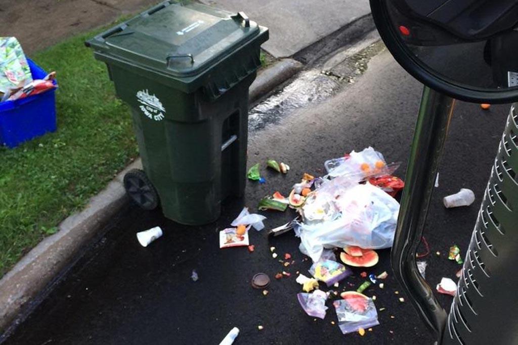 Плохо вывозят мусор, мои действия