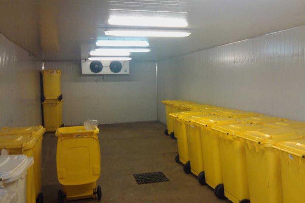 Временное хранение мед отходов категории Б
